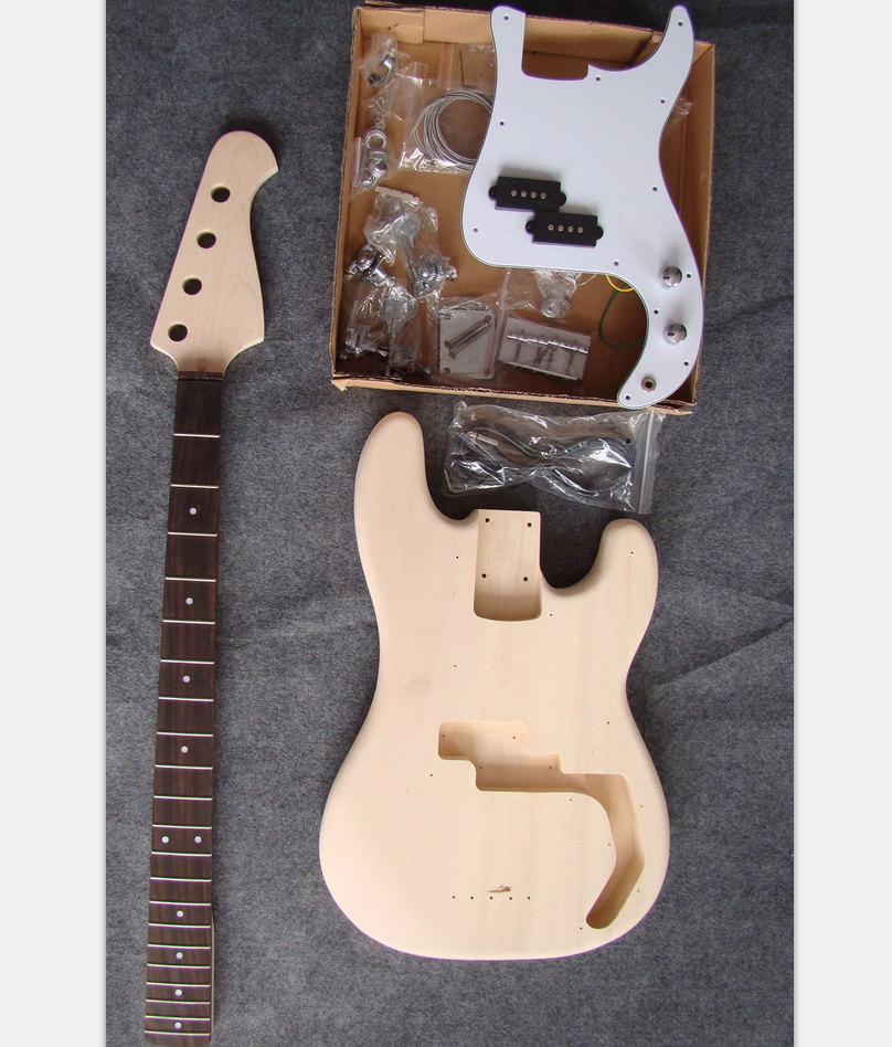 changle xinhua cheap unfinished diy electric bass guitar kit for sale