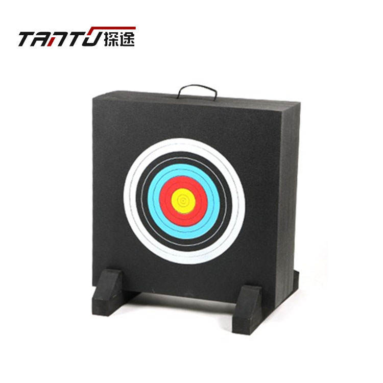 hot sale pe foam 25cm extra thick high density silkscreen printing domino compound bow archery target padding