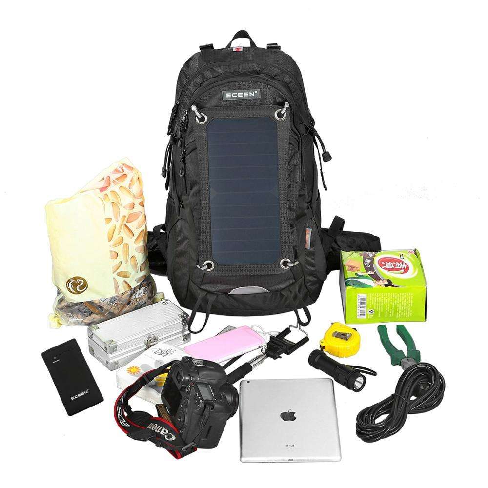 Solar battery power bank panel backpack battery solar bag solar charging bagpack