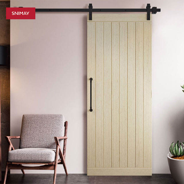 China factory supply customize power coating white sliding door fashion barn door