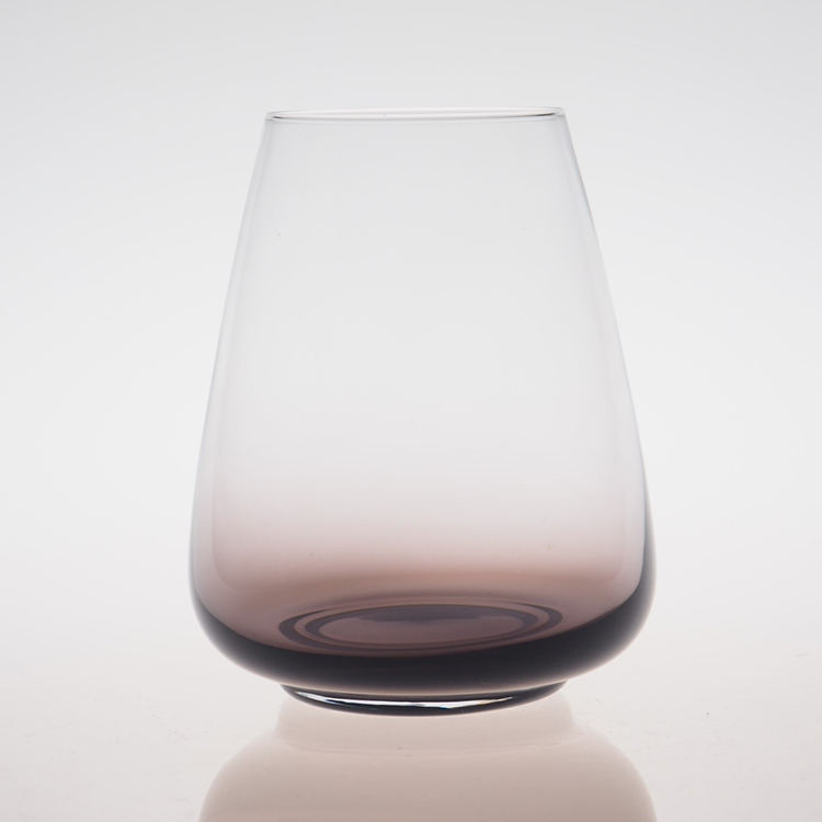 soda lime glass wholesale sample free stemless wine glass