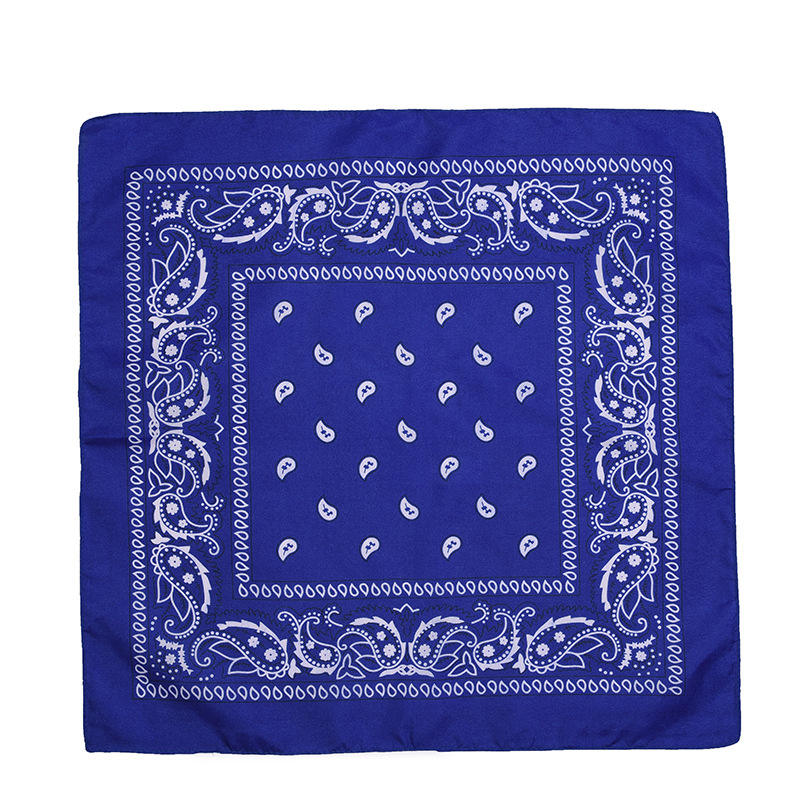 Custom paisley square scarf headband outdoor cotton and polyester magic breathe head cover bandanas