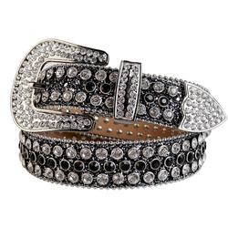 Western Cowgirl and Cowboy Bling Bling Swarovski Rhinestones Belt Studded Belt Removable Buckle for Women and Men