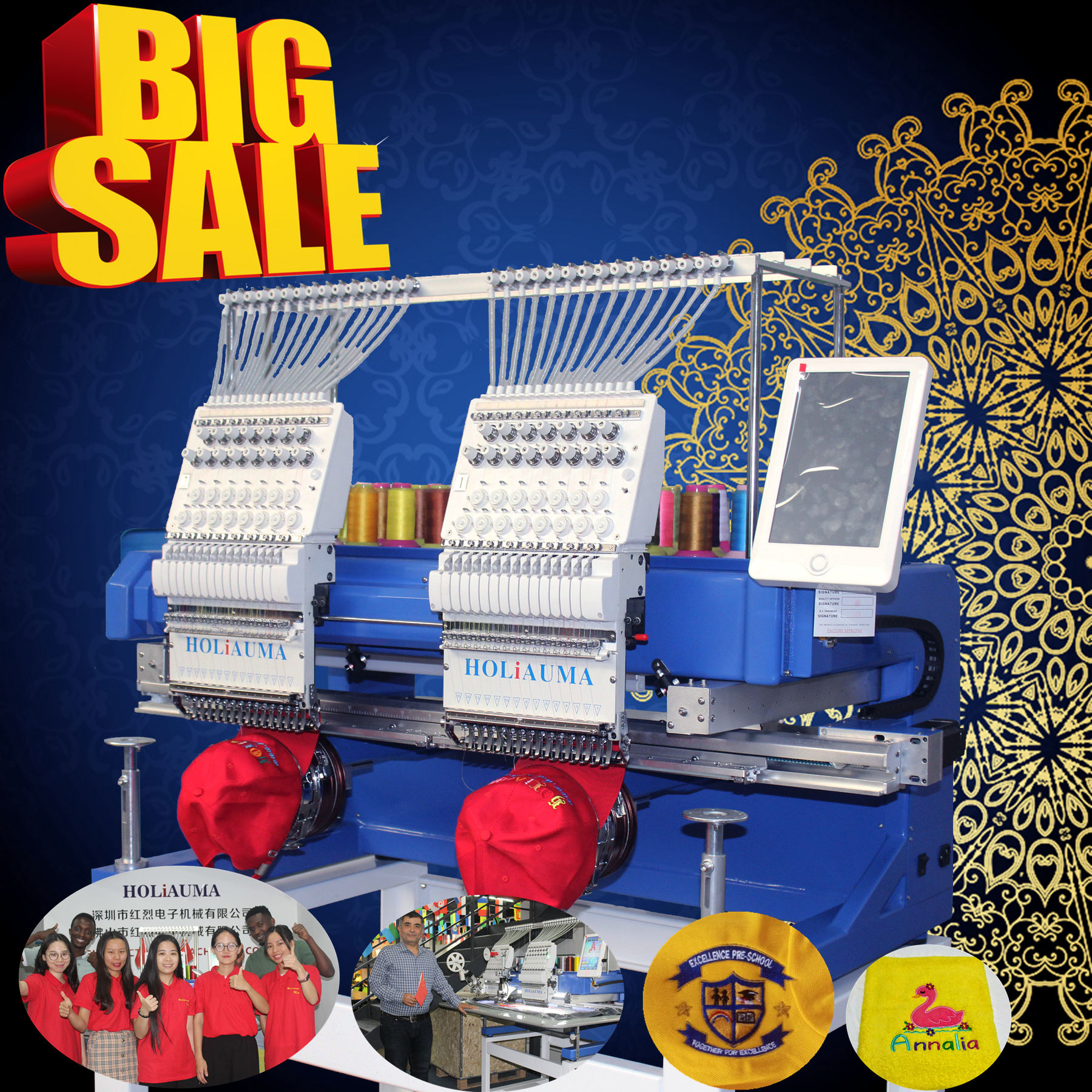 2 heads cheap embroidery machine for clothes caps shoes lace embroidery machine similar to taijima embroidery machine price