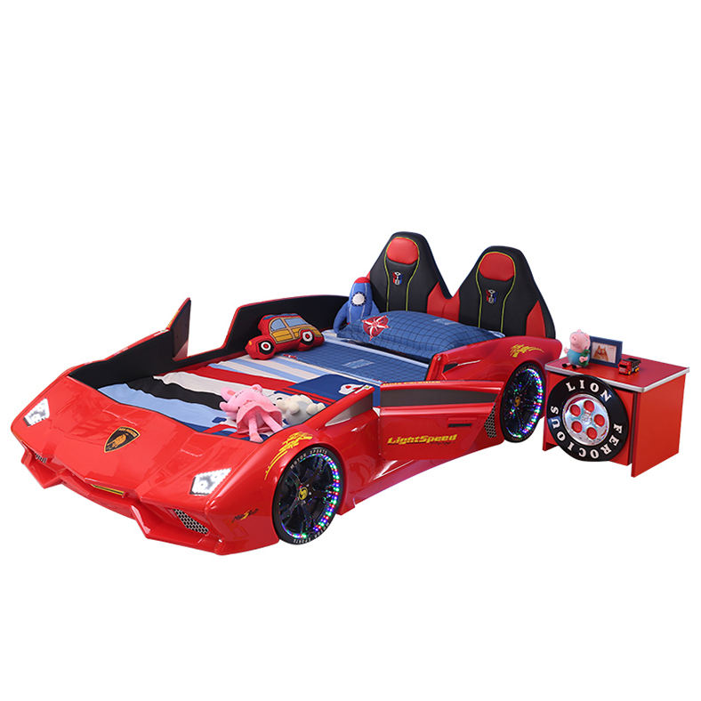 ABS Plastic Car Bed With LED Lights And Music Kids Bedroom Furniture Sets For Kids