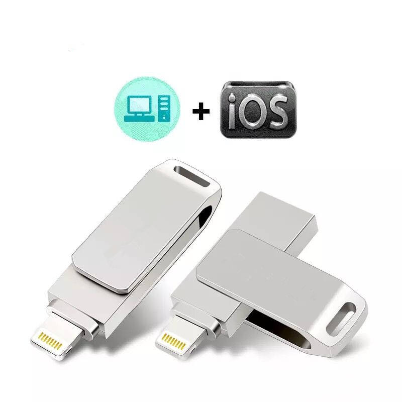 Usb 2.0 Otg Flash Drive Voor Iphone/Voor Lightning 2 In 1 Pen Drive Voor Ios Externe Opslagapparaten