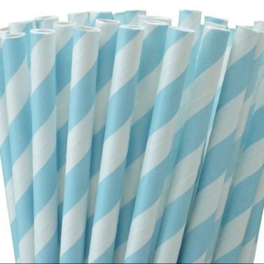 Striped eco rolled paper straws for free samples