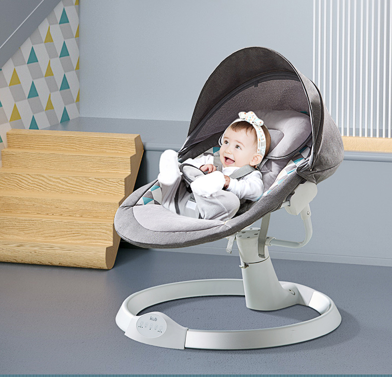 KUB HOT SALE foldable rocking chair for baby musical bouncer multi-functional automatic electric baby swing bed