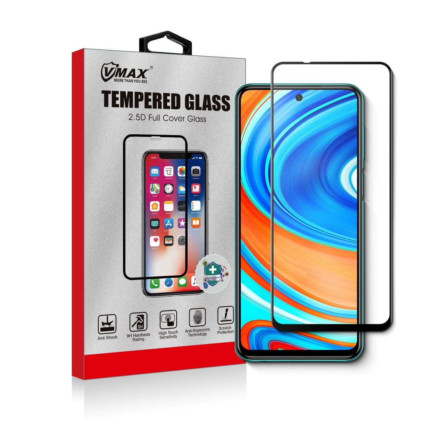 For Xiaomi Redmi Note 10X Screen Protector Tempered Glass Film 9H Hardness Anti-Scratch Crystal Clear