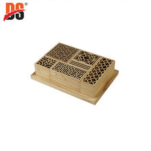 DS Multifunctional Hollow Customized Wholesale Stationery Storage Wooden Box
