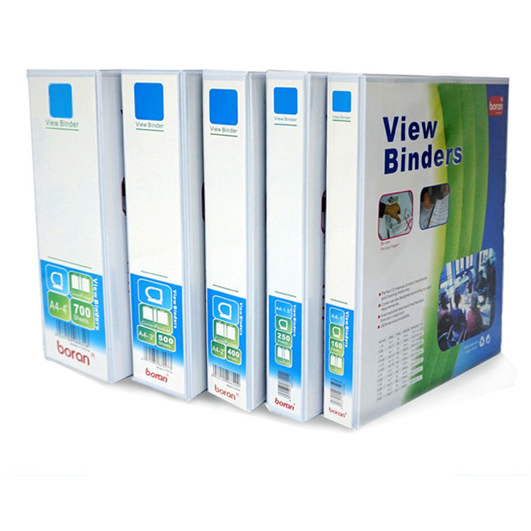 Factory wholesale A4 binding folder PVC office binder 2 Inches 2 hole clamp