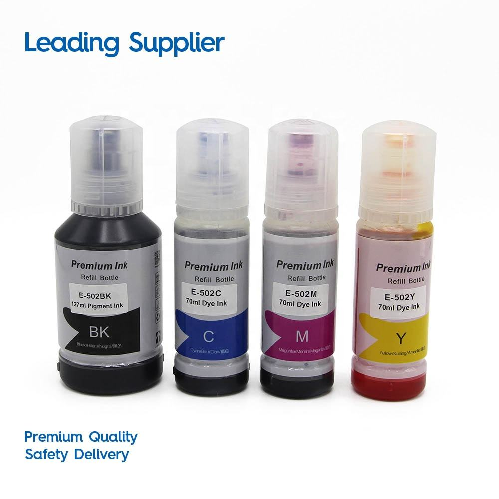 INK-TANK 502 T502 T5021 T5022 T5023 T5024 Premium Color Compatible Bulk Bottle Water Based Refill Dtg Eco Ink for Epson ET-2750