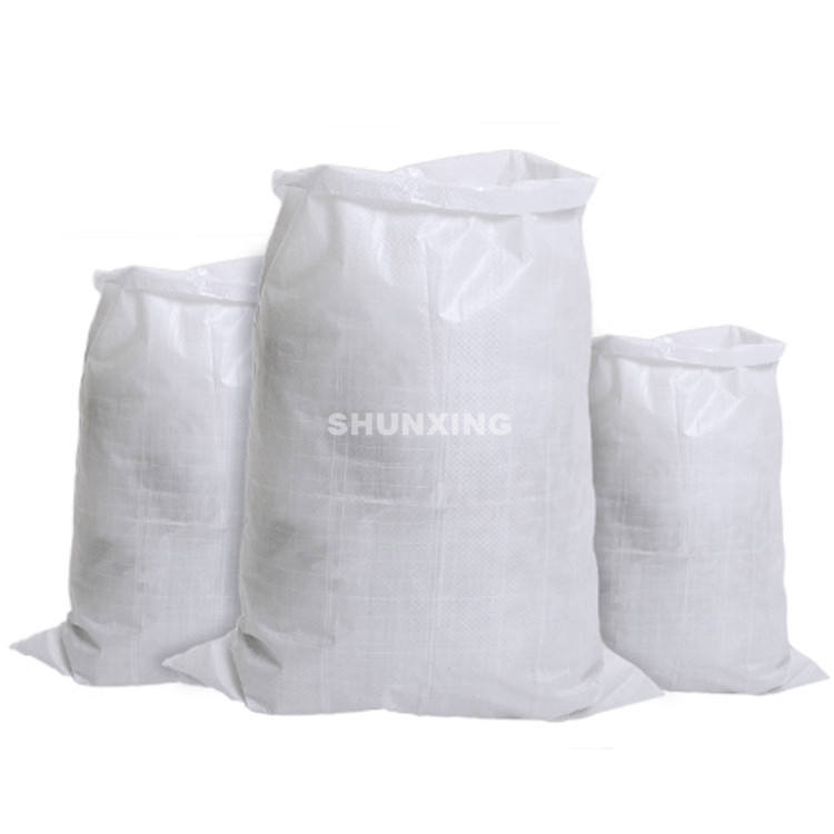 Customized 5kg 25kg 50kg pp woven sack with handle rice grain bag