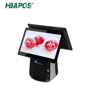 Pos Machine with Printer 15.6 Inch True Flat Touch Screen Desktop Pos Computer for Supermarket