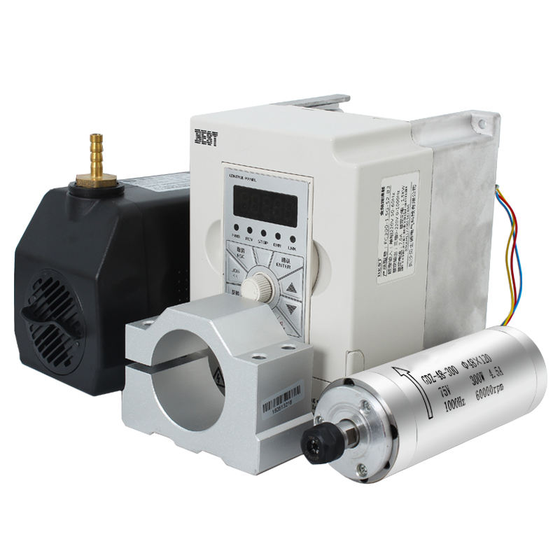 85mm water cooled cnc router spindle motor 2.2kw ER20 kit include inverters, water pump, holder bracket