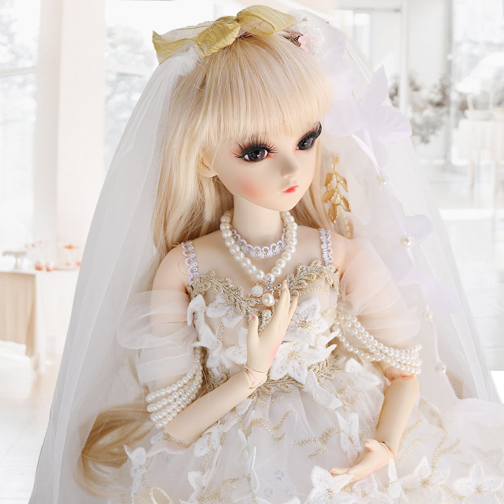 Whiter Palace Dress 1/3 BJD SD Dolls ,60cm 18 Ball Jointed dolls China factory OEM Customized Design great for baby Gift