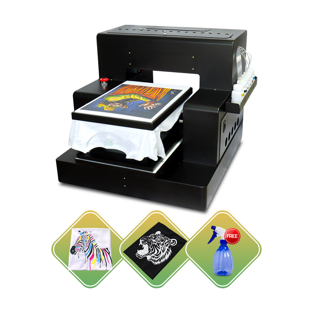 Best A3 size flatbed printer A3 DTG printer for t shirt a3 dtg inkjet printer with RIP software