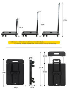 Foldable carrying capacity 150KG retractable portable trolley