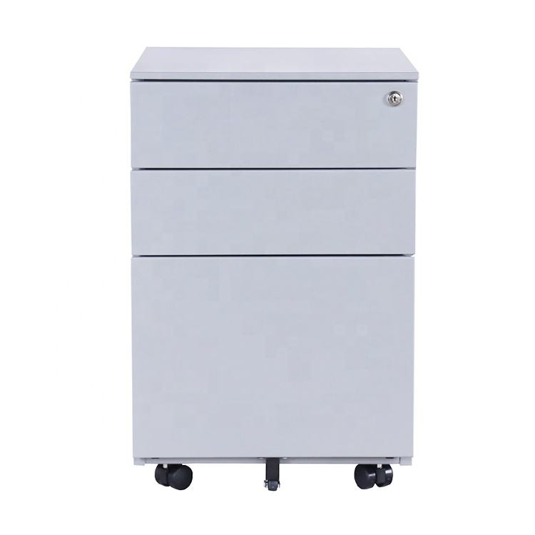 3 drawer mobile pedestal file cabinet steel storage cabinet for office furniture equipment