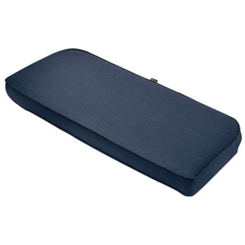 "Classic Outdoor Textile Accessories OEM Bench Cushion Sponge Foam & Slip Cover Heather Indigo 48x18x3"" Thick"