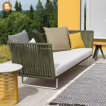 hot sale modern design rope outdoor furniture garden sofa set