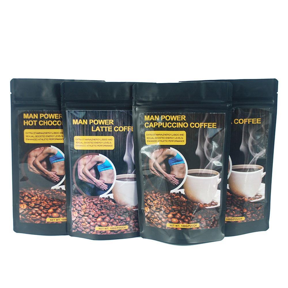 Male Sexual Enhancement Herbal Man Power Coffee with Tongkat Ali Extract