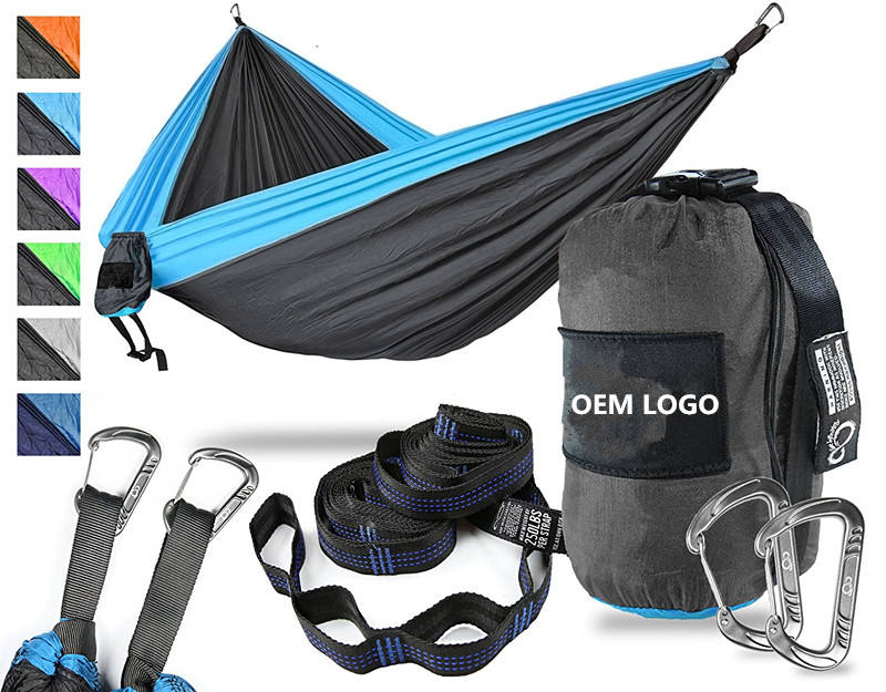 2018 High quality Outdoors Backpacking Survival or Travel Single & Double parachute Hammocks/camping hammock