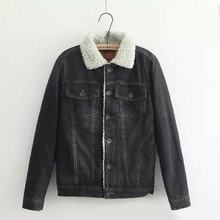 Wholesale custom Denim Jacket with fur Collar Men women