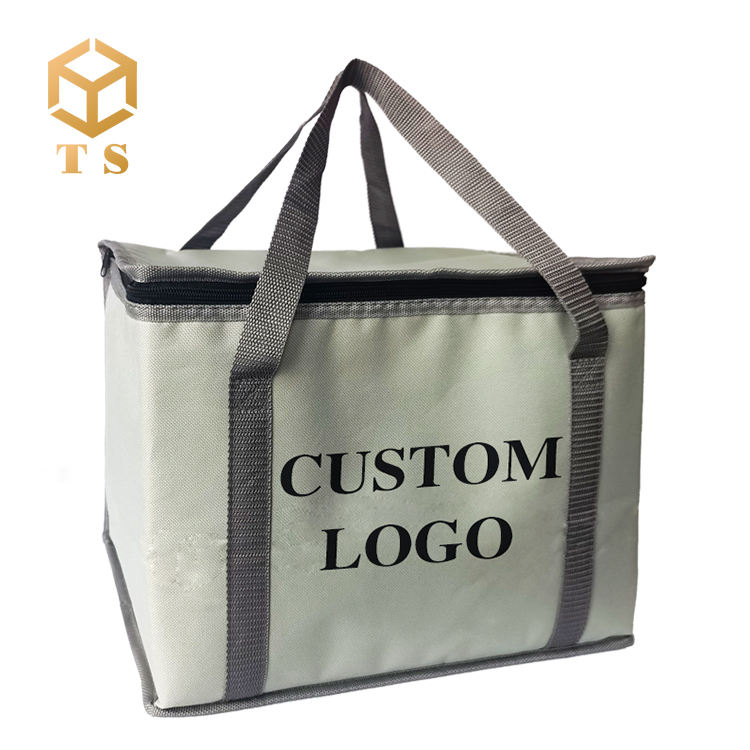 Low Moq Wieder verwendbare Günstige Aluminium folie Isolierung Lieferung Hot Cold Takeaway Lunch Cooler Bag Thermal