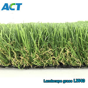 Lush looking green artificial grass lawn  decoration turf carpet for wholesale LW40