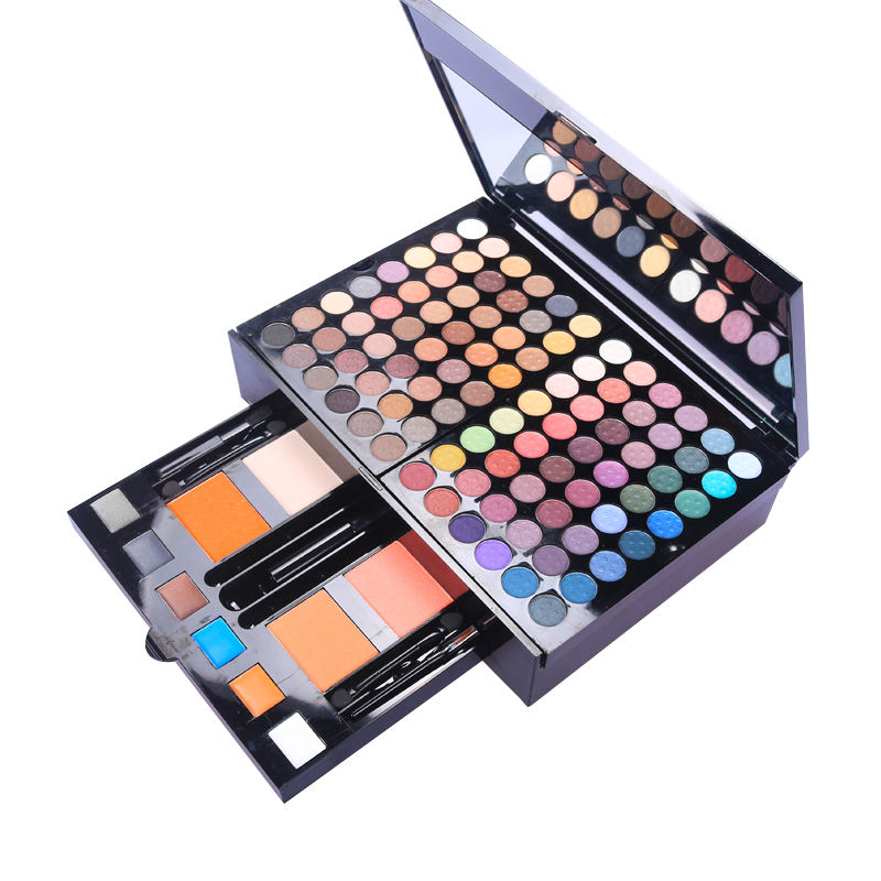 Makeup Kit Long Lasting Waterproof Shimmer Matte Soft Eye shadow Palette Glitter Makeup Set Women 180 Colors Multi color