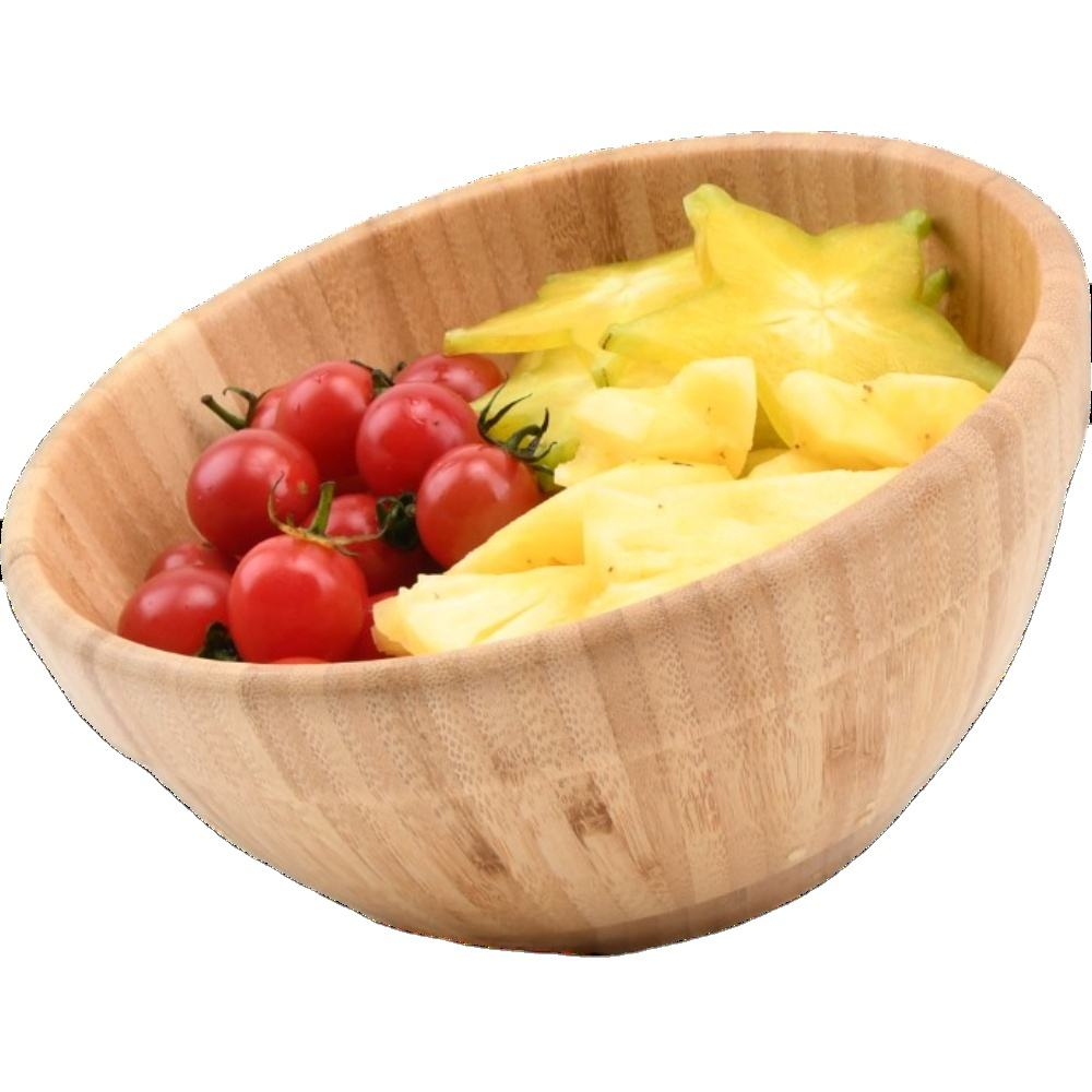 High quality Large mini Bamboo Wood Salad Bowl Serving Bowl for Fruits Salads