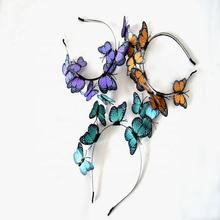 2020 new design top sale  flower fairy girls headband with butterfly cosplay on party