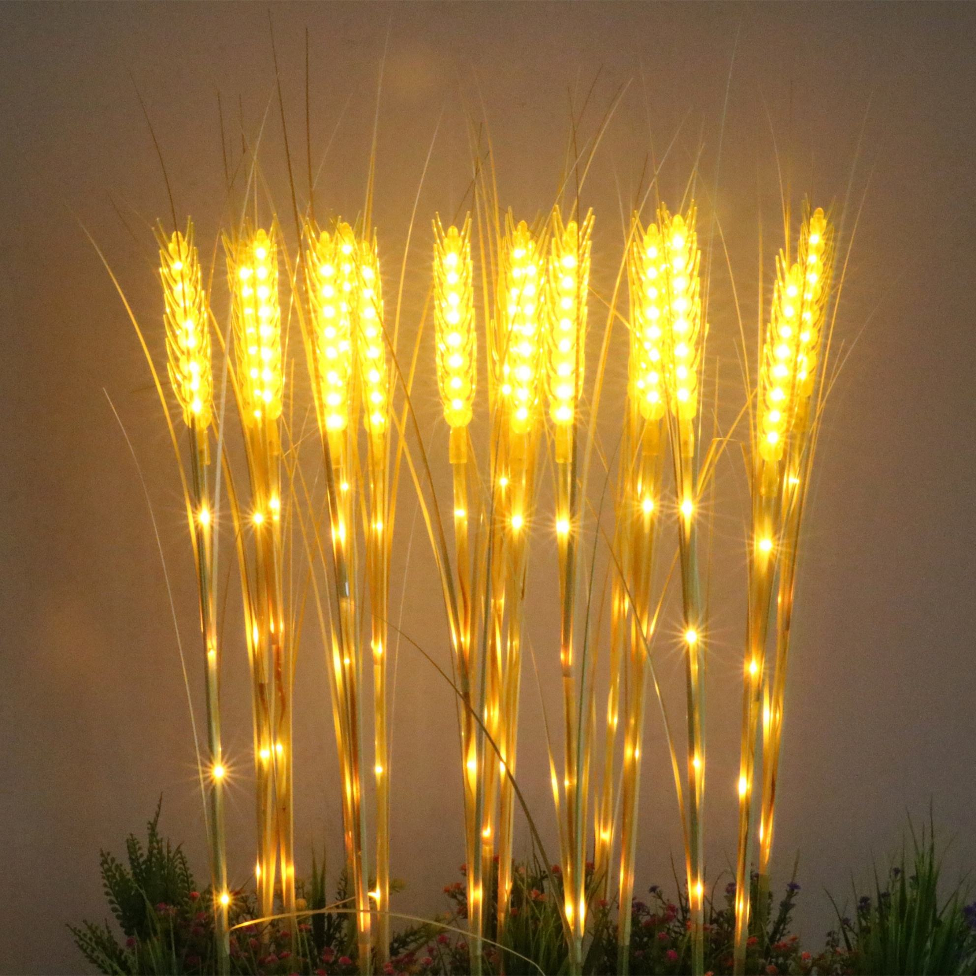 DC12V 10pcs/set garden/holiday decoration Artificial Simulation gloden wheat led festival light