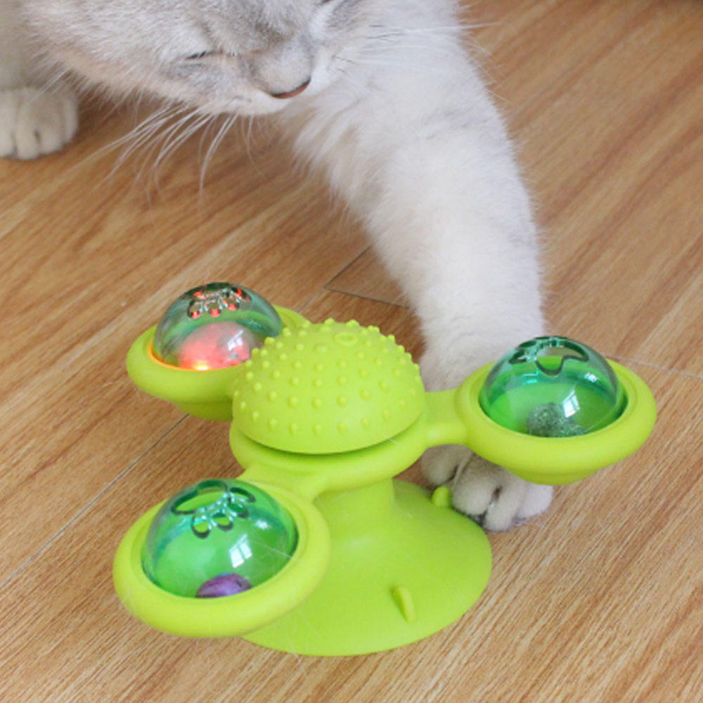 good quality factory directly pet turning cat windmill toy usa pet interactive toy