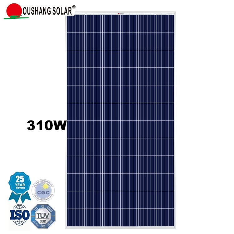 OUSHANG SOLAR Factory direct sale 25 years warranty 310 watt poly solar panel placas solares