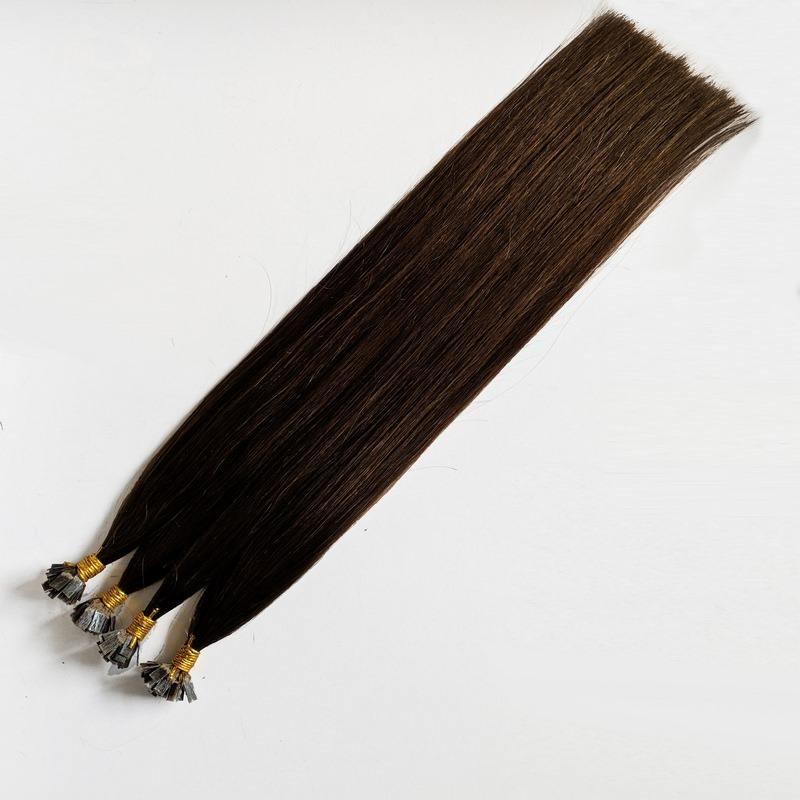 Professional Hair Factory Italy Glue Flat tip Human Hair Extensions