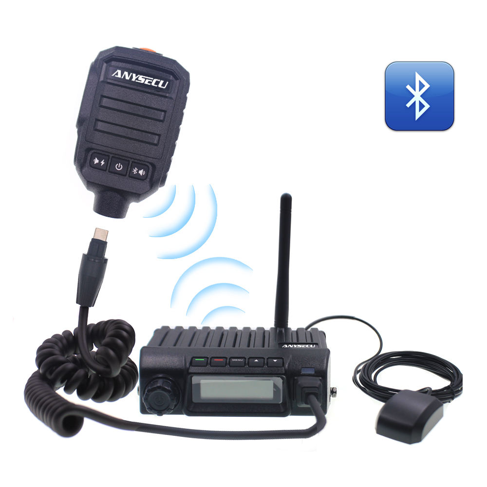 Anysecu 4G LTE IP PTT POC network blueteeth radio 4G-W1 GPS work with realptt Mobile Transceiver ptt4U communicator