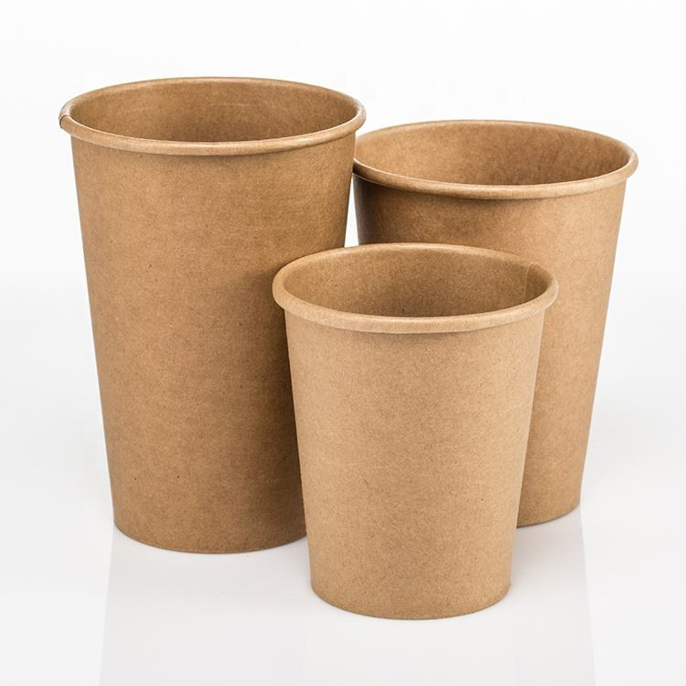 High quality single-layer paper cup 8oz/14oz/12oz/16oz/22oz coffee hot drink cup disposable kraft paper cup
