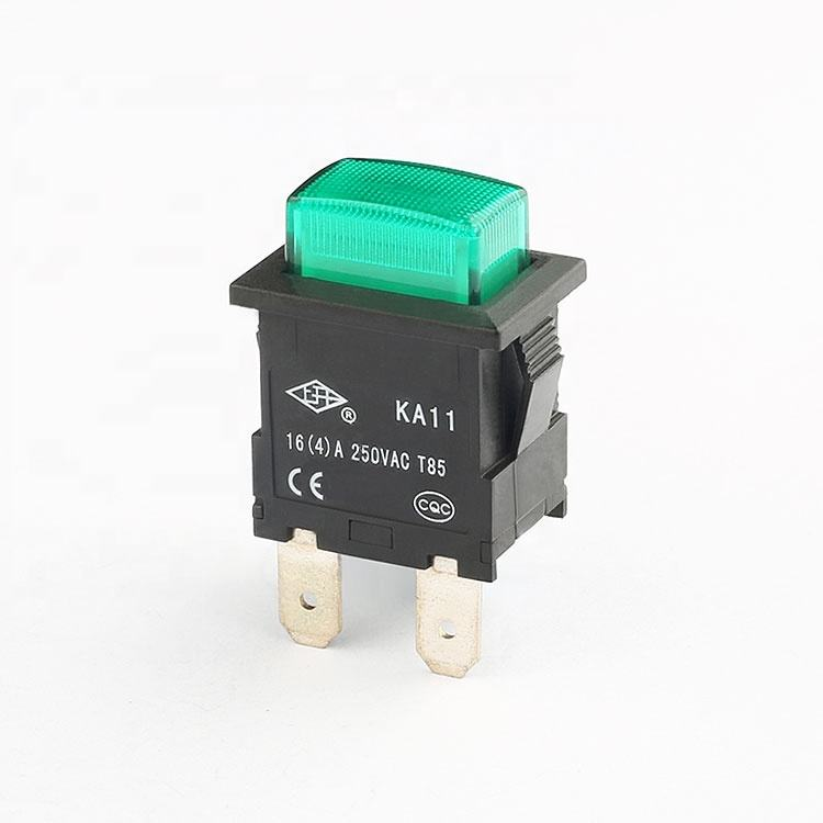 16A 250V KA11 4 pins momentary self-locking led สวิทช์ปุ่มกด
