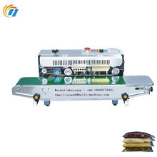 Continuous band sealer and bag sealing machine with date steel printing printer