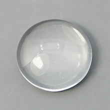 xygems Round Oval Pear Faceted Flat Back White Synthetic Glass Cabochon Wholesale Decorative Stone
