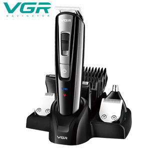 Original VGR V-025 6 In 1 Professional Digital Rechargeable Cordless Hair Trimmer Clippers