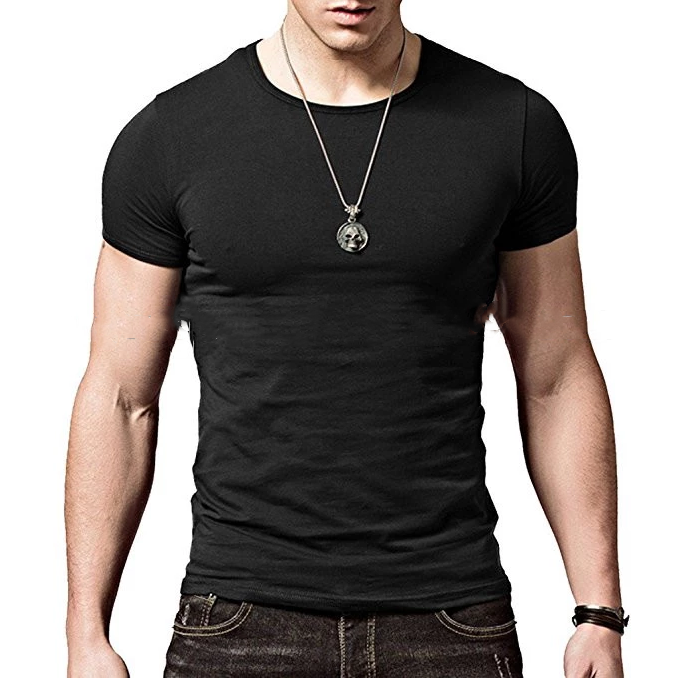 Byval men s t shirts custom soft short sleeves athletic muscle cotton t shirts OEM