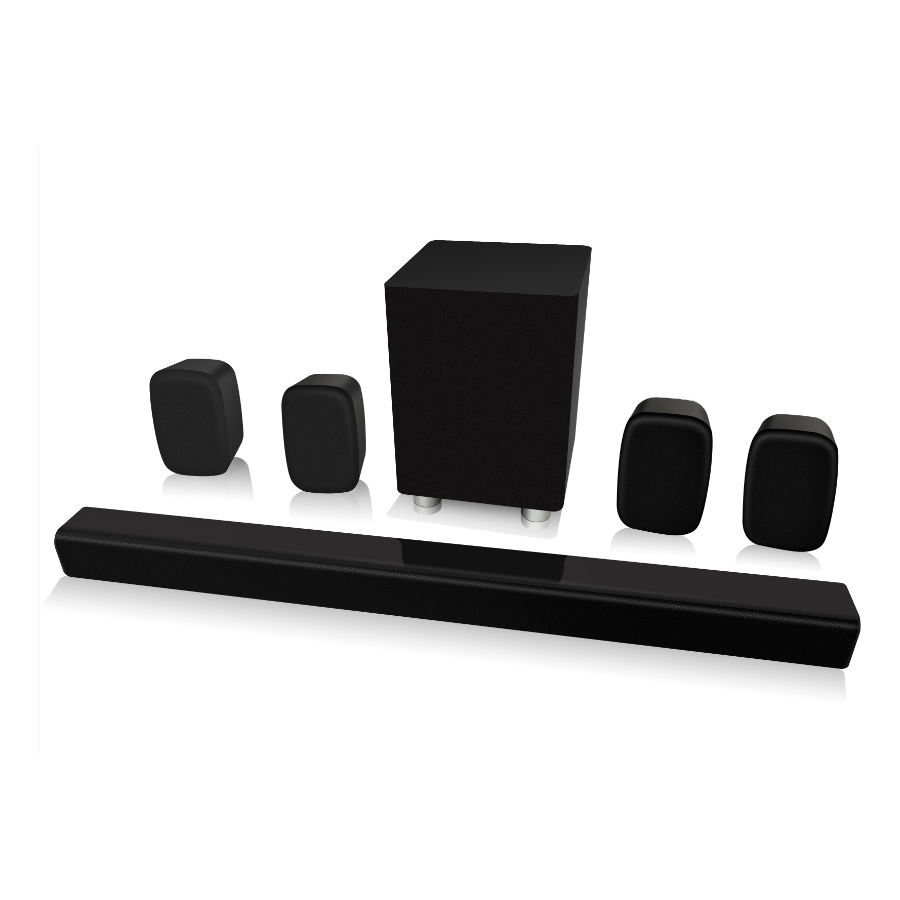Special Feature 5.1 Home Theater 3D Surround Bluetooth Soundbar Speaker With Wired Subwoofer