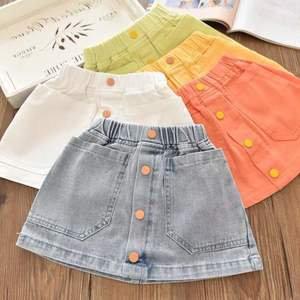 Girls Denim Skirts Autumn Kids Clothes Toddler Girl Jean Tutu Skirt Baby Children Fashion Fsh Fail Skirt