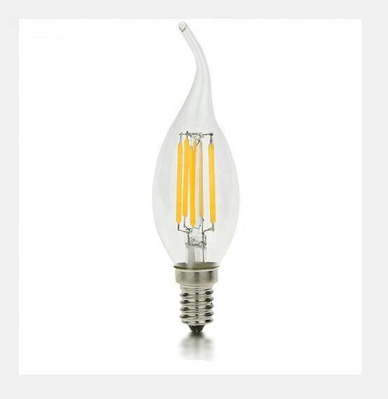 C35 LED Candle Bulbs 6w 360 degree led filament candle bulb led lighting E27