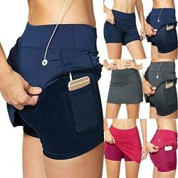 Milk Silk High Waisted Slim Fit A line Sports Yoga Shorts High Elastic Breathable Anti Flash Tennis Skorts