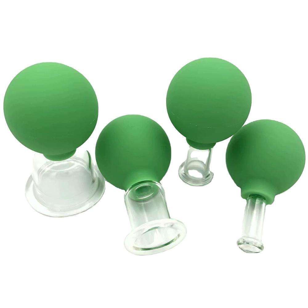 Massage Cupping/Rubber Bulb Glas Zuignappen/Rubber Zuig Glas Cupping Set