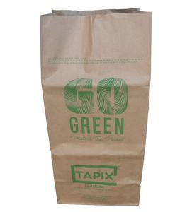 Customized biodegradable Brown Paper Bag Leaf Lawn Grass Garden Paper Bag Refuse Trash Wast Garbage Bags